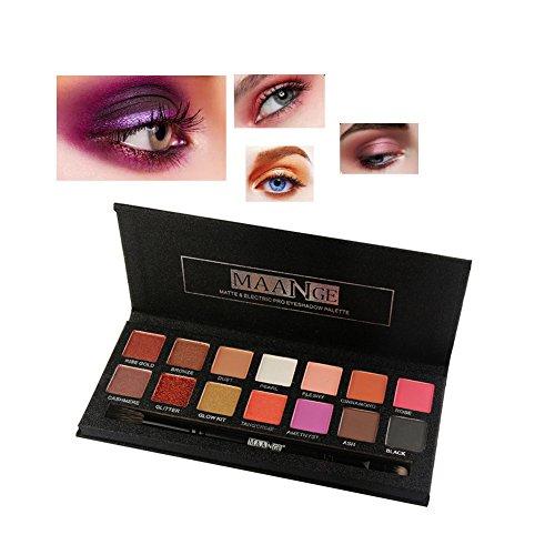 Sheer Eye Shimmer (Allbesta Eye Artist Luxury Pigment 14 Farbe Lidschatten Palette Shimmer Braune Augen Sleek)