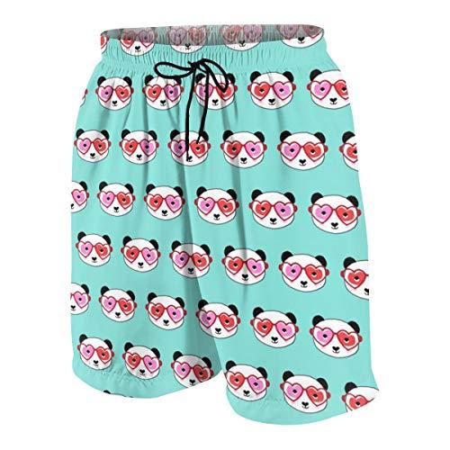 1 Panda Valentinstag Panda Muster - Panda, Valentinstag Panda - Candy Mint_1975 Badehose Surf Beach Holiday Party Badeshorts Strandhose M ()