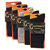 #8: FootPrints Organic Cotton and Bamboo Men's Formal Socks Pack of 5-( 2 Black 2 Navy 1 Grey)