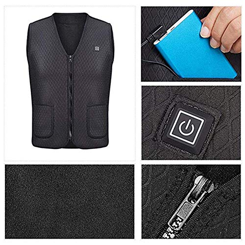 51Bqj0YzcTL. SS500  - OUTANY USB Rechargeable Electric Body Warm Vest, Temperature Adjustable, Washable, Heated Clothing