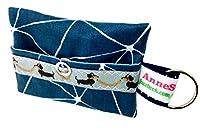kackb eutel Bleu Motif Distributeur de Sacs à déjections canines pour chien sachet Friandises Sacoche en toile cirée Promenades Waste cadeau propriétaire de chien dunette Bag chien