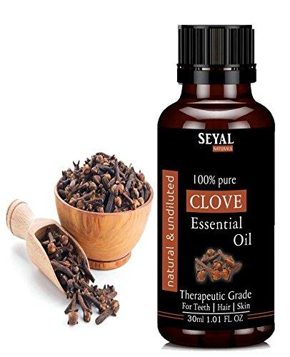 Seyal Naturals Clove Essential Oil Pure & Natural Therapeutic Grade, For Teeth, Hair, Skin (30Ml)
