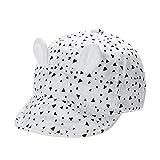 La Cabina Bébé Casquette de Baseball -Chapeau Enfants d'été-Chapeau Fille Garçon de Plage -Chapeaux de Soleil Protection -Chapeaux 0-3 ans (blanc)