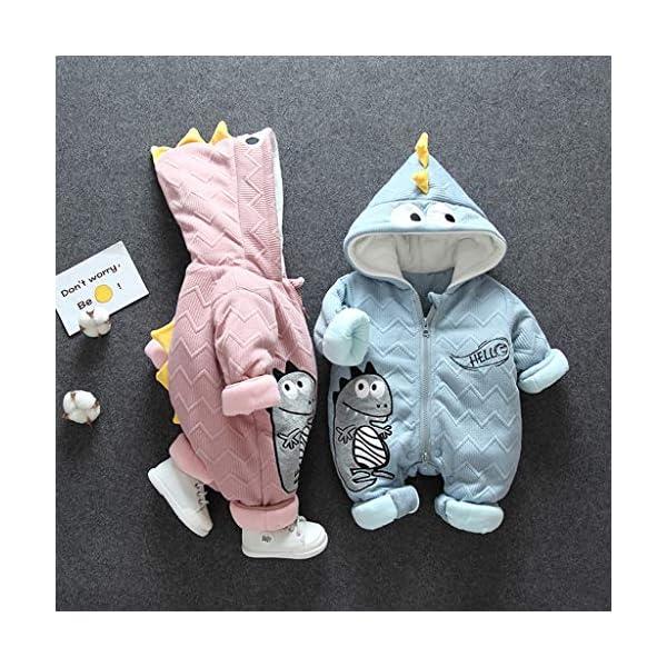 Felpa Pequeño Monstruo Encapuchado Recién Nacido Mono Invierno Moda Niñito Bebé Niños niñas Calentar Mameluco Mono… 2