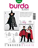 Burda 2494 Schnittmuster KostŸm Fasching Karneval Zauberer Pirat Teufel (kids, Gr, 98 - 128) Level 1 super easy