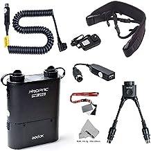 Fomito Godox PB960 Batería portátil doble salida para flash Nikon SB910 SB900 SB800 SB28 EURO SB28DX SB80DX, para AD600 AD360 II AD180, para teléfonos móviles, negro