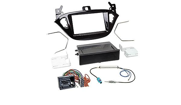 Carmedio Opel Adam Ab 13 1 Din Autoradio Einbauset In Original Plug Play Qualität Mit Antennenadapter Radioanschlusskabel Zubehör Und Radioblende Einbaurahmen Hochglanz Schwarz Navigation