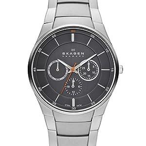 Skagen SKW6054 - Reloj para hombres, correa de acero inoxidable color plateado de Skagen