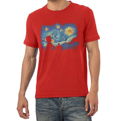 TEXLAB - Mario Stars Night - Herren T-Shirt Rot