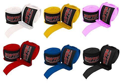 TOP TEN Boxbandagen 2,5 meter ROT Box-Bandagen elastisch Top Ten Handschuhe