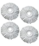 #8: Easydeals Microfiber Spin Mop Head / Refill (Pack of 4)