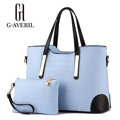 (G-AVERIL) Borsa a Mano Donna Tracolla Sacchetto Borse Tote Borsetta Sacchetta a Spalla blu