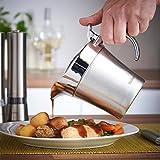 VonShef 500ml Sauciere aus Edelstahl - Doppelt isoliert, ideal für Bratensoßen, Vanillesoße & Schlagsahne - 2