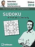 Stefan Heine: Sudoku mittel bis schwierig 2018 - Tagesabreißkalender, Rätselkalender, Wissen und Logik  -  11,8 x 15,9 cm