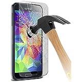 Premium aus gehärtetem Glas Crystal Clear LCD-Schutzfolien Packs mit Poliertuch & Anwendung Karte für Samsung Galaxy S5 i9600 Packung mit 1