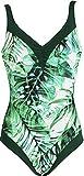 Red Point Beachwear, Damen, Badeanzug, Schlankmachend mit Bügeln, Jungle, EU Grösse: 44, Cup C, grün/weiss