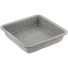 Salter - Teglia da forno, quadrata, 23 cm, collezione Marble, colore: grigio