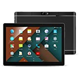 "QIMAOO 10.1"" Inch Android Tablet Pc, 2Gb Ram 32Gb Storage Phablet Tablet Quad Core Unlocked 3G Cell Phone Tablets, Dual Camera Sim Card Slots, Wifi, Gps, Bluetooth 4.0,1280X800 Hd Ips Screen Display, Google Play (Black)"
