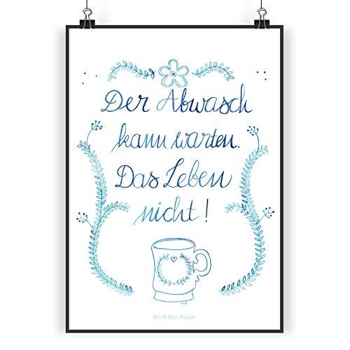 mr-mrs-panda-poster-din-a5-der-abwasch-kann-warten-100-handmade-handbedruckt-lebensweisheit-weisheit