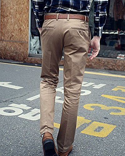 Uomo Pantaloni Ultra Classici pantaloni dritti Light Giallo