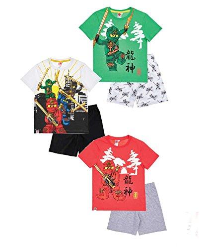 Preisvergleich Produktbild Lego Ninjago Jungen Shorty-Pyjama - weiß - 128