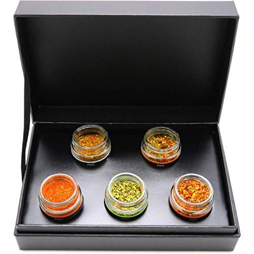 51BqrBM3mdL - Hallingers 5er Premium-Grill-Gewürze als Geschenk-Set (95g) - Grilllust (MiniDeluxe-Box) - zu Sommer Grillen Für Ihn