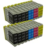 Ti-Sa 20x LC970 LC 1000 kompatibel Tintenpatronen für Brother