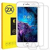 Schutzfolie für iPhone 6 Plus 6s Plus, Vkaiy 2 Stück iPhone 6s 6 Plus Panzerglas, Panzerglasfolie, 9H Härte, 3D Touch Kompatibel, Anti-Kratzen, Gehärtetem Glas Displayschutzfolie für iPhone 6 Plus 6s Plus