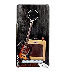 Omnam Music Lover Guitar Printed Designer Back Cover Case For Micromax Yunique