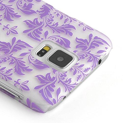 JAMMYLIZARD | Damast- Motiv Back Cover Hülle für iPhone 6 & 6s 4.7 Zoll, SCHWARZ LILA