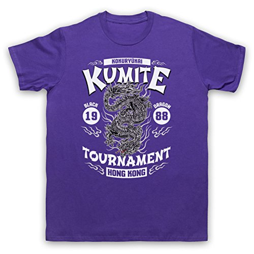 Bloodsport Kumite 1988 Black Dragon Tournament Herren T-Shirt Violett