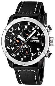 Lotus - 15688/2 - Montre Homme - Quartz - Chronographe - Chronomètre - Bracelet cuir noir