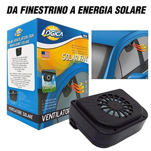 LOGICA 1240694 Parking Cool Ventilatore Solare per Auto