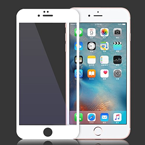 InShang iPhone 7 (4.7 inch) Pellicola protettiva vetro temperato,Super resistente agli urti,ultra-trasparente film protezione dello schermo di alta sensibilità,Full Screen Telaio in fibra di carbonio  white