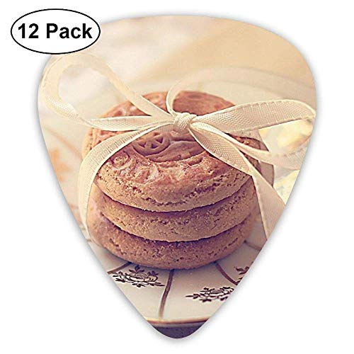 Classic Guitar Pick (12 Pack) Biscuits Cookies Player's Pack for Electric Guitar,Acoustic Guitar,Mandolin,Guitar Bass (Für Finger Cookies Halloween)