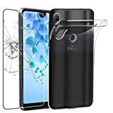 ebestStar - Coque Wiko View 2 Pro Etui Housse Silicone Gel Anti-Choc Ultra Fine Invisible, Transparent + Film Verre Trempé [NB: Lire Description] [Appareil: 153 x 72.6 x 8.3mm, 6.0'']