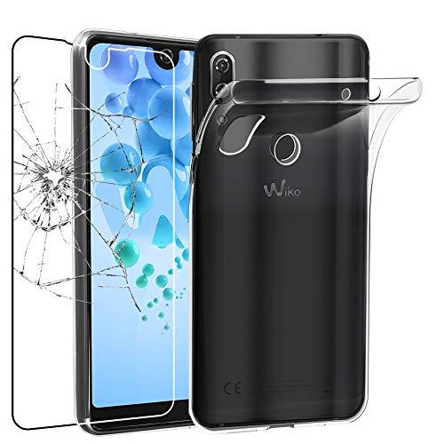 ebestStar - Wiko View 2 Pro Hülle Handyhülle [Ultra Dünn], Durchsichtige Klar Flex Silikon Schutzhülle, Transparent + Panzerglas Schutzfolie [Phone: 153 x 72.6 x 8.3mm, 6.0'']