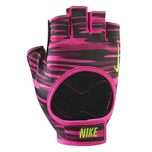 Nike Damen Fit Training Handschuhe, Vivid Pink/Black/Volt, S
