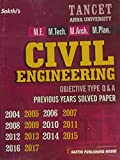 TANCET Anna University CIVIL ENGINEERING Exam Guide for M.E. M.Tech. M.Arch. M.Plan. With Objective Type Q & A and Previous Years Solved Papers upto 2017. A most popular guide on demand for TANCET Exams