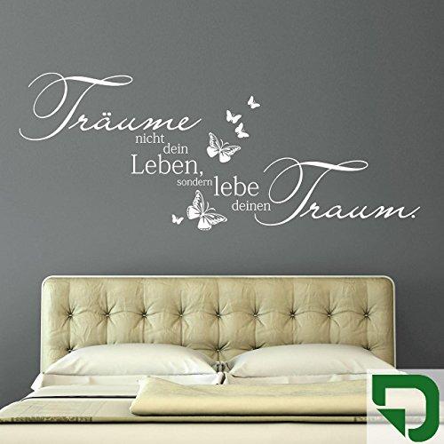 DESIGNSCAPE® Wandtattoo Träume nicht Dein Leben, sondern lebe Deinen Traum. 120 x 48 cm (Breite x Höhe) grasgrün DW801162-M-F27