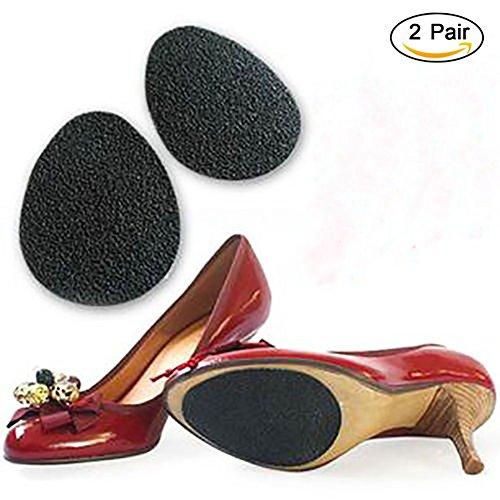 No Slip calzado ¨²nico protector tacones altos almohadillas de zapatos Auto-Adhesivo Anti deslizamiento Coj¨ªn Coj¨ªn pegatina Plantilla de goma delantera para las mujeres (2 pares, negro)