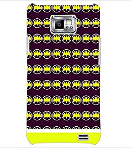 PrintDhaba Bat Pattern D-1655 Back Case Cover for SAMSUNG GALAXY S2 (Multi-Coloured)