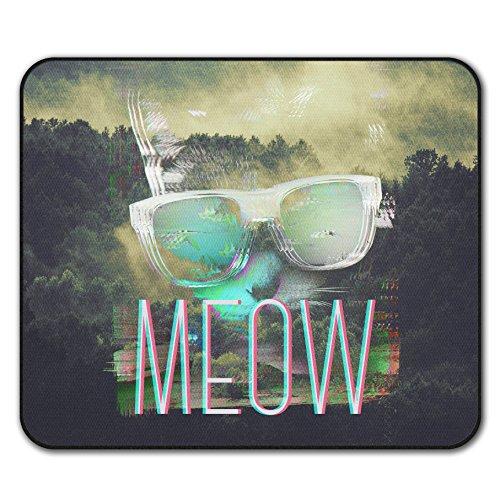 Cool Katze Mouse Mat Pad, Brille Rutschfeste Unterlage - Glatte Oberfläche, verbessertes Tracking, Gummibasis von Wellcoda -