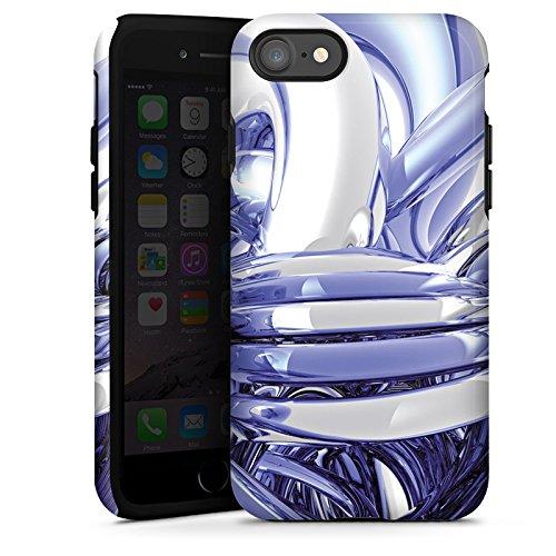 Apple iPhone X Silikon Hülle Case Schutzhülle Knoten Chrom Eis Tough Case glänzend