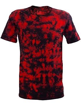 Desteñido Festival Red Scrunch batik T-Shirt