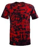Chameleon Clothing Tie Dye Festival Rojo Scrunch Camiseta Rojo Rosso X-Large