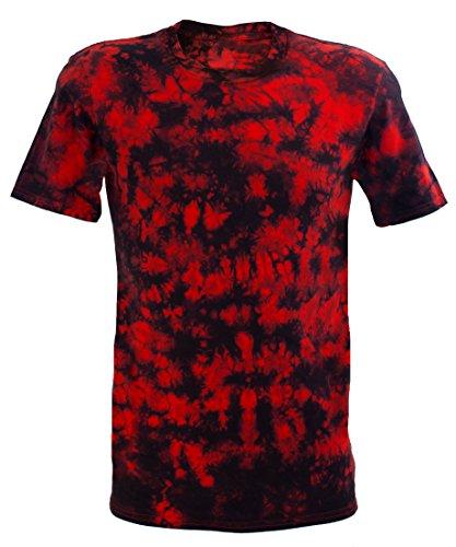 Chameleon Clothing Tie Dye Festival Rojo Scrunch Camiseta Rojo Rosso XXX-Large