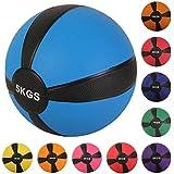 Medizinball Fit Ball Gymnastikball 1 kg, 2 kg, 3 kg, 4 kg, 5 kg, 6 kg, 7 kg, 8 kg, 9 kg oder 10 kg verschiedene Farben, Kunststoff mit Luftfüllung Ball