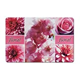 Zeller 26930 Platzset Flower, 43,5 x 28,5 cm, Rosa