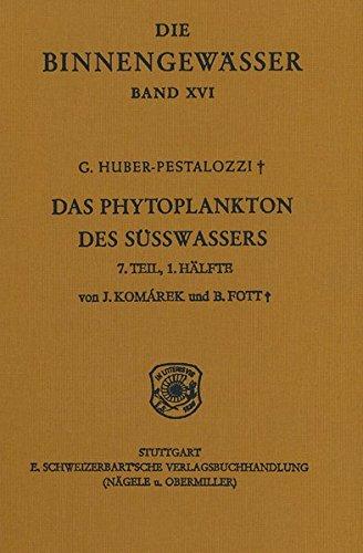 Das Phytoplankton im Süsswasser / Chlorophyceae (Grünanlagen) Ordnung: Chlorococcales